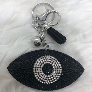 Evil Eye Key Chain Black